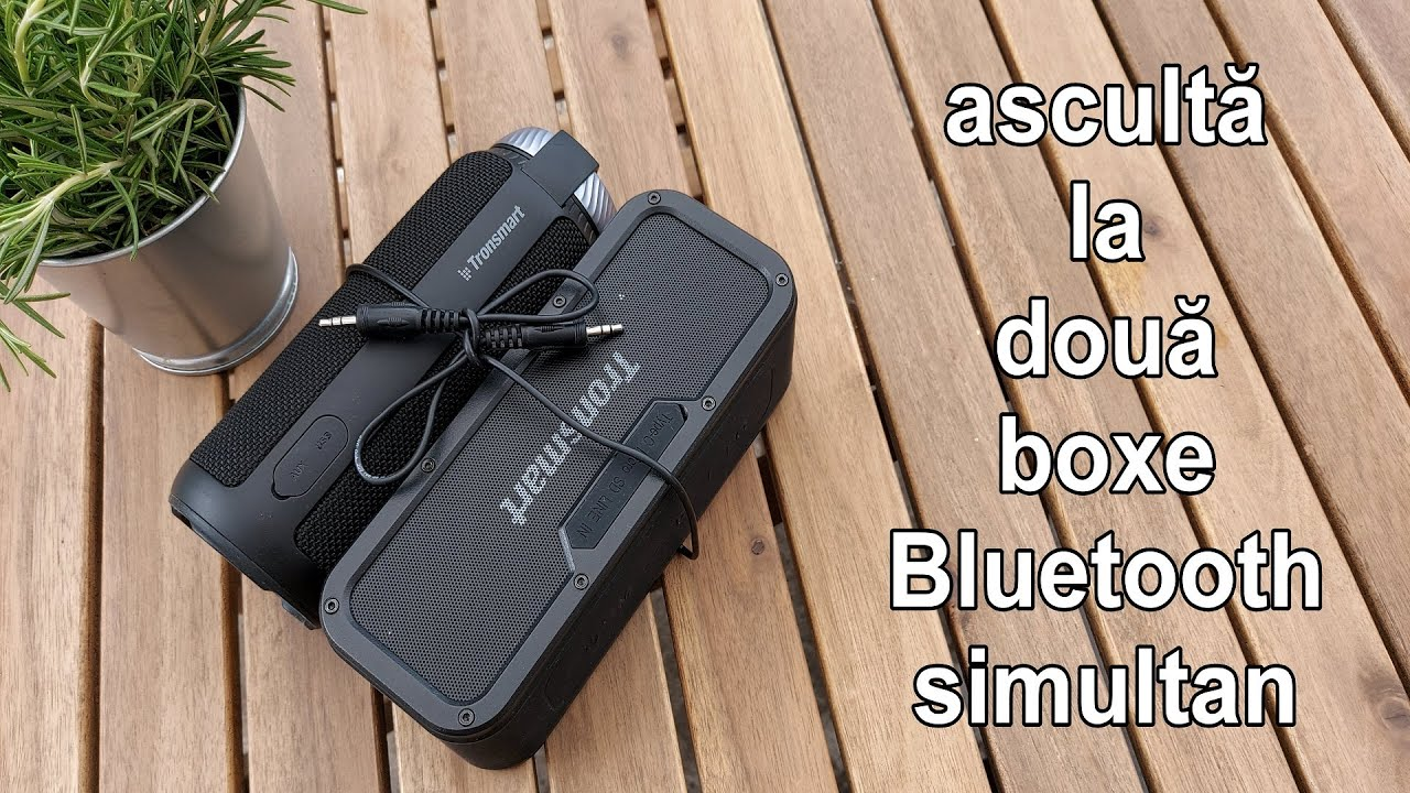 Muzica în doua boxe Bluetooth diferite - conectate împreună