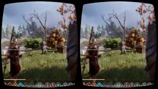 Dragon Age Inquisition mod for Oculus Rift 3D VR first person gameplay 2016