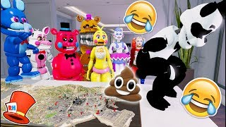 PANDA FREDDY'S POOP PRANK AT SCHOOL! (GTA 5 Mods For Kids FNAF RedHatter)