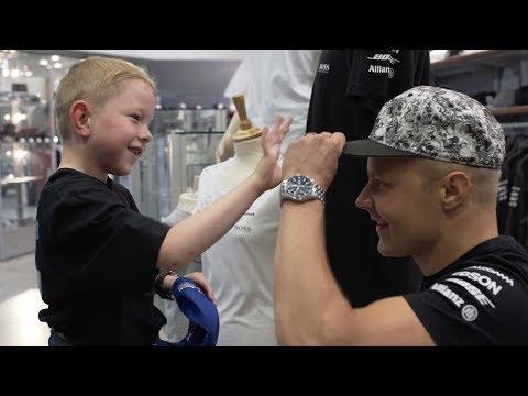 Valtteri Bottas Surprises Young F1 fan at Mercedes-Benz World!