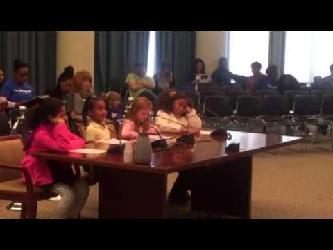 Anne Beers Elementary School Students testify