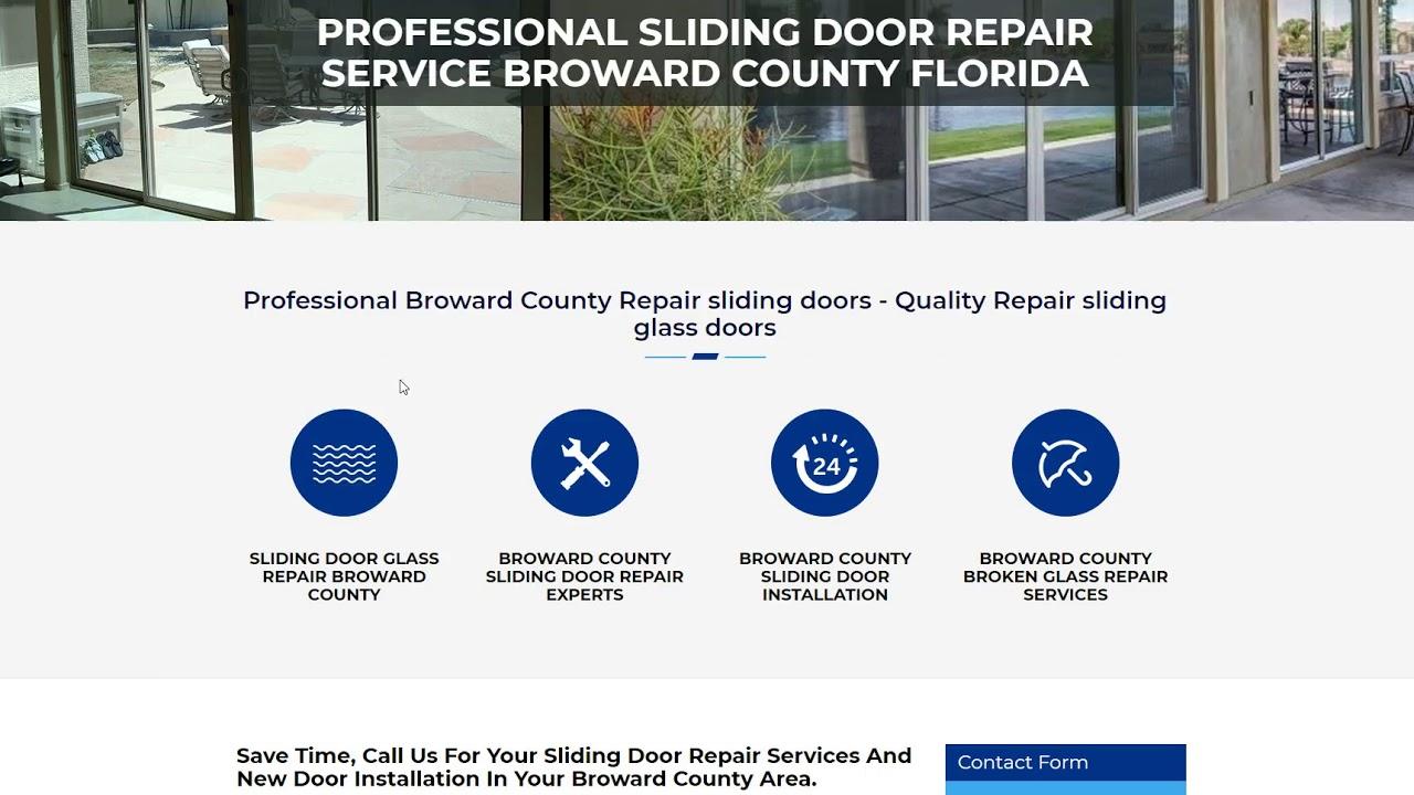 Professional Sliding Door Repair Service Broward County Florida