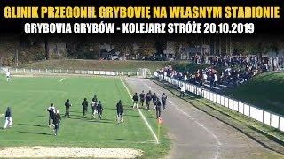 Glinik przegonił miejscowych podczas meczu Grybovia Grybów - Kolejarz Stróże 20.10.2019