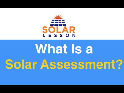 what is a solar assessment