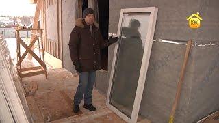 видео установка окна в каркасном доме
