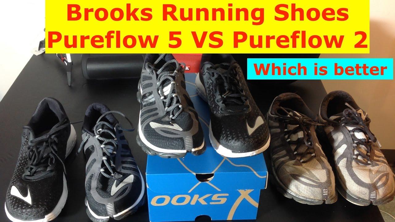 bb05a2e2897 Brooks Pureflow 5 VS Pureflow 2 running shoes