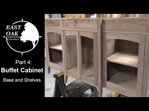 walnut-buffet-cabinet-build-part-4:-base-and-shelves-|-woodworking