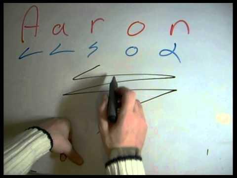 Aaron Name Art Video Lesson - Dscript Video Tutorials