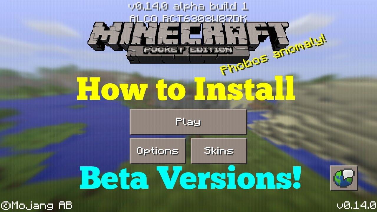 Minecraft Pocket Edition BETA How To Download Install Beta - Minecraft beta spielen