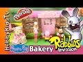 Woodzeez Bakery INVASION! Peppa Rabbids Barbie Mickey Mouse Helpers by HobbyKidsTV
