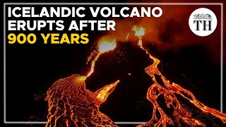 Icelandic volcano's first eruption in 900 years