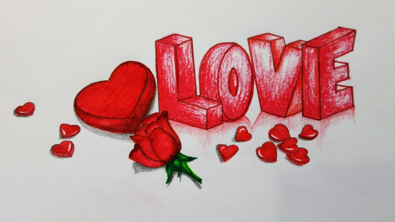 How to Draw a Love Picture.Step by step(easy draw) - YouTube