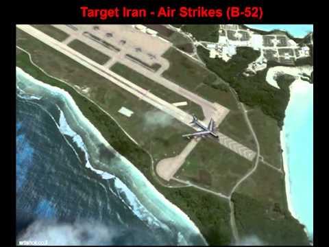 Diego Garcia - B-52 can fly to Iran.