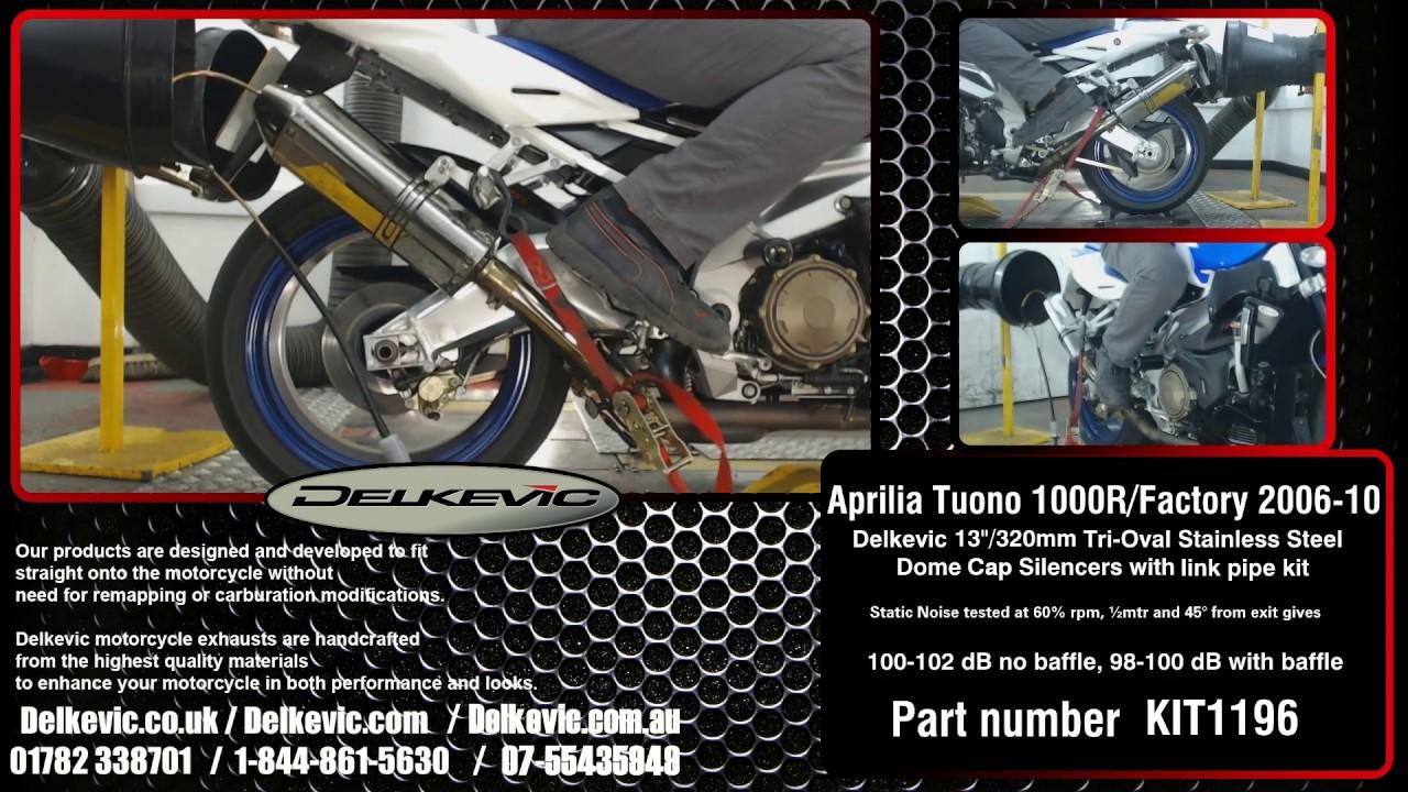 Delkevic Exhaust Muffler sound Tri-Oval Aprilia Tuono 1000 R 2006-10