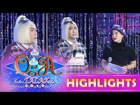 It's Showtime Miss Q & A: Vice accidentally inhales Anne's burp