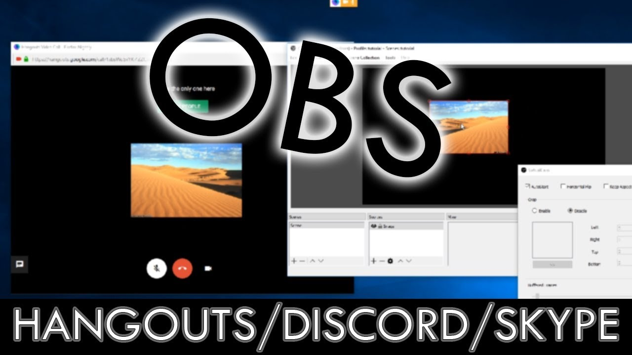 Use OBS in Hangouts / Skype / Discord! OBS-Virtualcam [Tutorial]