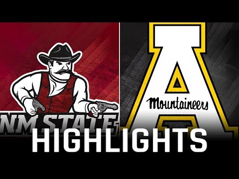 FB  Highlights: Appalachian State 45, New Mexico State 31