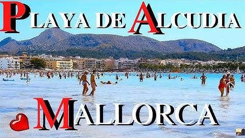 [4K] Platja d'Alcúdia - Walk Along Alcudia Beach - Mallorca, August 2019