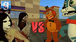 ANIMATRONICS vs CREEPY PASTAS | Gmod Sandbox Fun