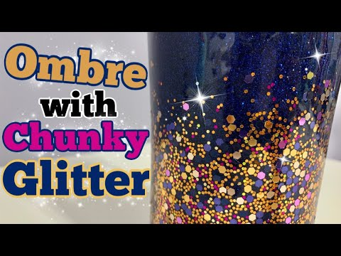 How to Ombre Fine and Chunky Glitter Tumbler |  DIY Epoxy Tumbler Series Start to Finish | Episode 3