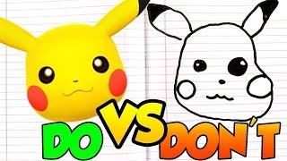DOs & DON'Ts Drawing Pokemon Charmander, Pikachu, Bulbasaur, Squirtle, Eevee POKÉMON In 1 Minute CH