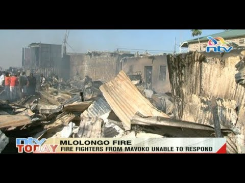 Protesters block road at Mlolongo over fire incident