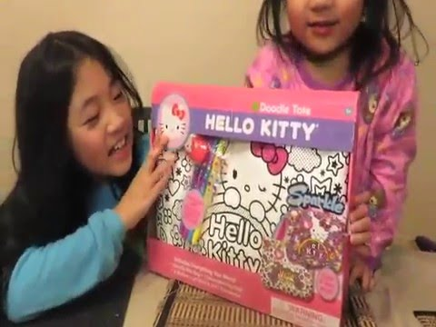 dcbde9aeaa1f Hello Kitty Coloring Tote Bag with Sparkling Gemstones! - YouTube