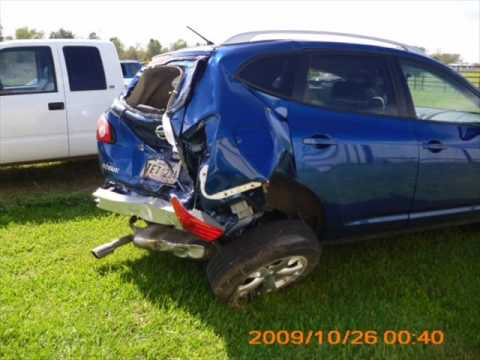 Giles Nissan Lafayette >> 2010 Nissan Rogue CRASH.wmv - YouTube