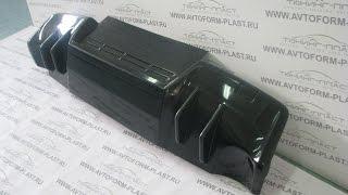 Накладка на задний бампер в стиле EVO Mitsubishi Lancer X var №2