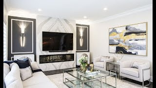 Gold and Navy Living Room Makeover / Reveal - Kimmberly Capone Interior Design