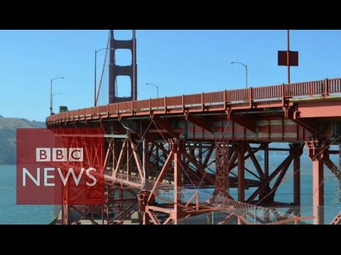 Golden Gate's suicide net design - BBC News