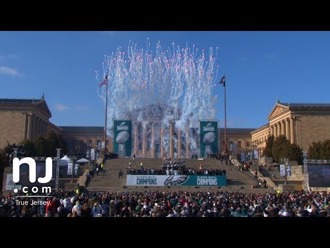 Highlights: Wild Eagles Super Bowl victory parade in Philadelphia