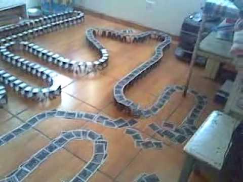 Efecto Domino con Cartas