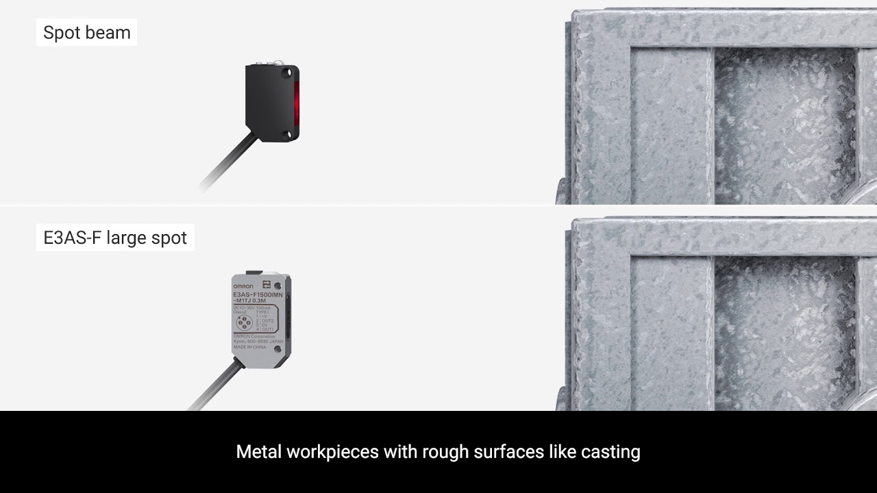 OMRON E3AS Photoelectric Sensors | Reliable detection of difficult workpieces