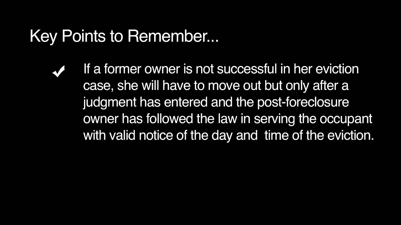 KNOW YOUR RIGHTS: Post-Foreclosure Eviction Summary Process