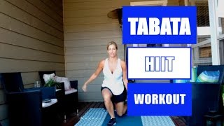 Tabata HIIT Workout For Women: High Intensity Interval Training At Home