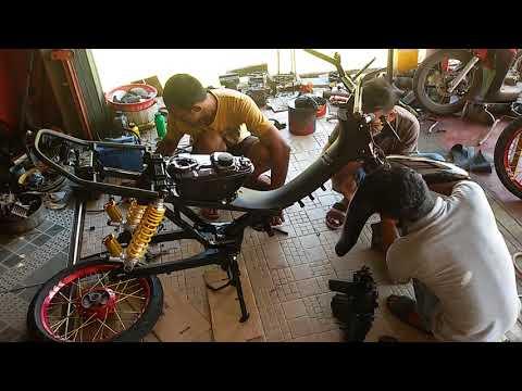 Perakitan motor modifikasi supra fit