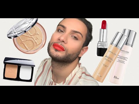 TESTING THE DIOR BACKSTAGE AIRFLASH FOUNDATION SPRAY AND MORE DIOR MAKEUP PRODUCTS 😘 thumbnail