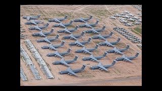WORLDS LARGEST Military Aircraft Junkyard of 5000 Aircraft one of a kind place in the world