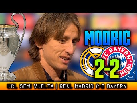 Real Madrid 2-2 Bayern de Munich MODRIC zona mixta post SEMIFINAL Champions (01/05/2018)