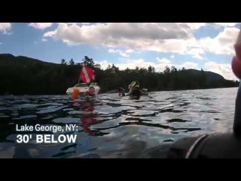 Scuba Diving Lake George: 30' Below