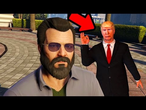 GTA 5 - IS THIS DONALD TRUMP ???  THE DONALD TRUMP EASTER EGG IN GRAND THEFT AUTO V!