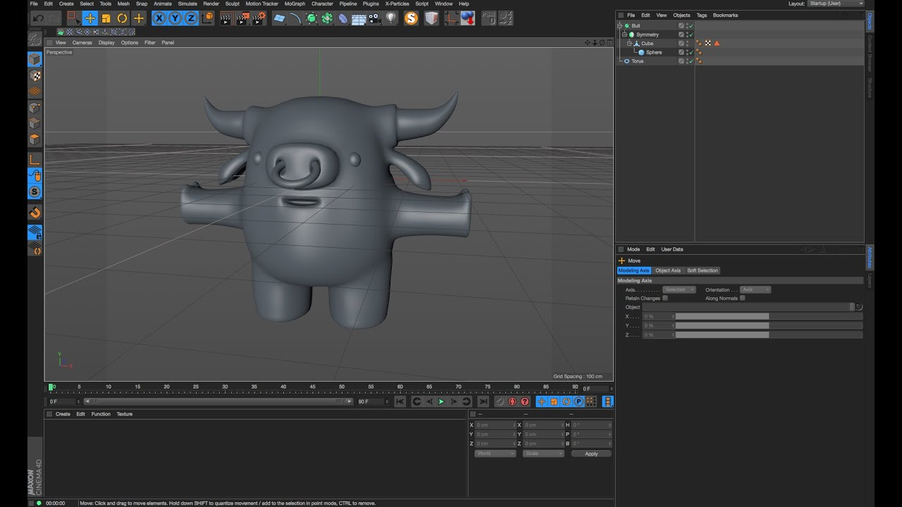 Character Design Cinema 4d Tutorial : Cinema d tutorial modeling a character in cinema d part