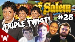 THE TRIPLE TWIST! (Town of Salem QUAD FACECAM w/ The Derp Crew Ep. 28)