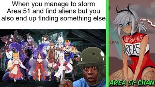 AREA 51 MEMES (Running in Naruto Style)