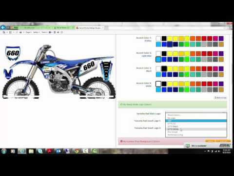 Yamaha YZ YZF Graphics And DeCals T Kit YouTube - Decal works graphicsdecal works camo graphics youtube