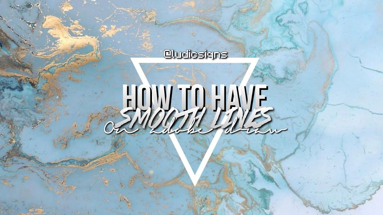 Drawing Smooth Lines With A Tablet : How to have smooth lines on adobe draw ludicsiqns youtube