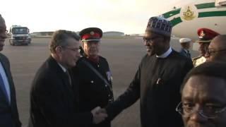 Watch: President Muhammadu Buhari Arrives London