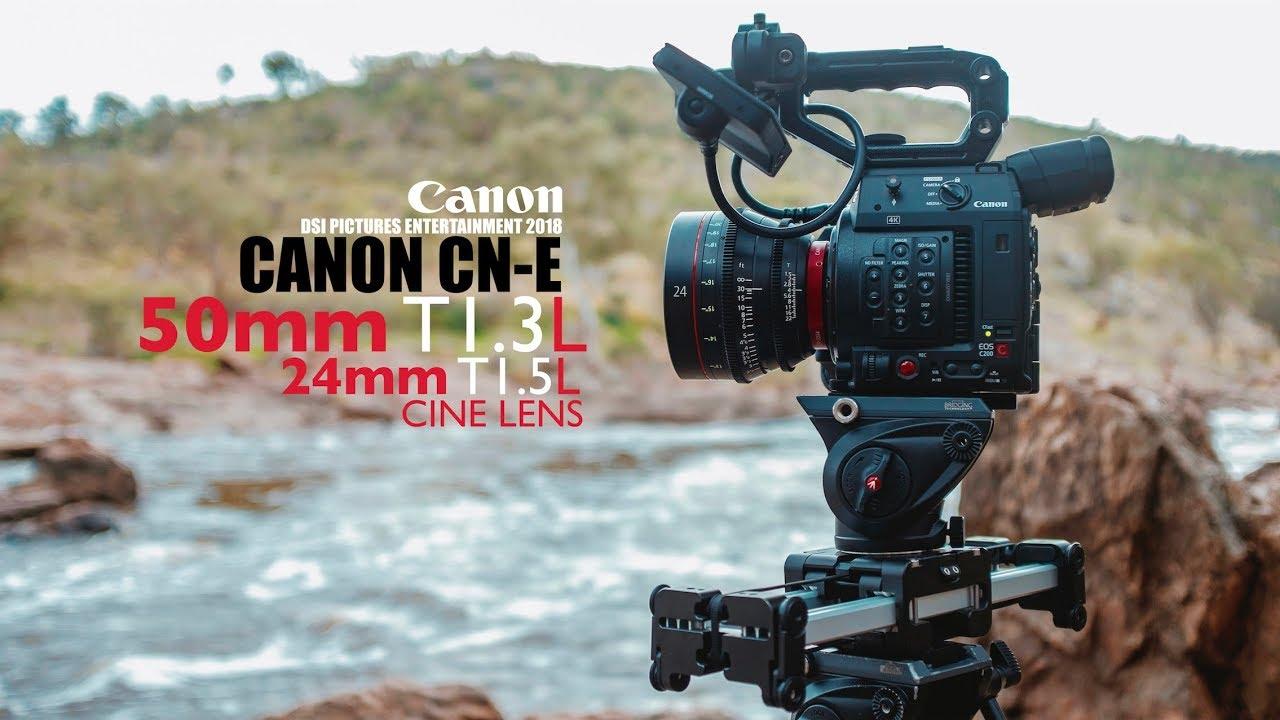 Canon CN-E 50mm T1 3L Cine & CN-E 24mm T1 5L Cine 4K Video Test (Shot it on  C200 12Bit RAW)