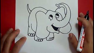 Como dibujar un elefante paso a paso 6 | How to draw an elephant 6